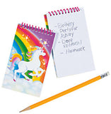 UNICORN PARTY Unicorn Spiral Notepads Note Books Mini Pads Pack 6 Free Postage