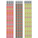 Hippie Chick Owl Pencils with Eraser - Party by Post