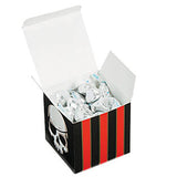 PIRATE PARTY Black and Red Small Treat Favour Boxes Pirates Gift Box Pack of 6