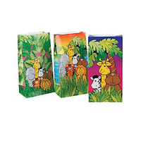 Zoo Party Animal Print Paper Bags Zebra Tiger Pack of 12 Free Postage