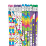 Unicorn Pencils with Eraser Party Favour Unicorns Pencil Pack of 12 Free Postage