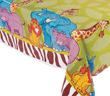 JUNGLE SAFARI PARTY Zoo Animals Table Cover Tablecloth 137 x 274 cm Free Postage