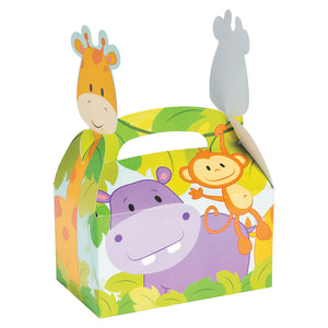 JUNGLE SAFARI PARTY Zoo Animals Treat Favour Boxes Birthday Gift Box Pack of 6