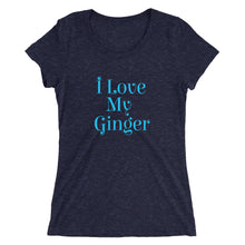 Ladies' I Love My Ginger short sleeve t-shirt