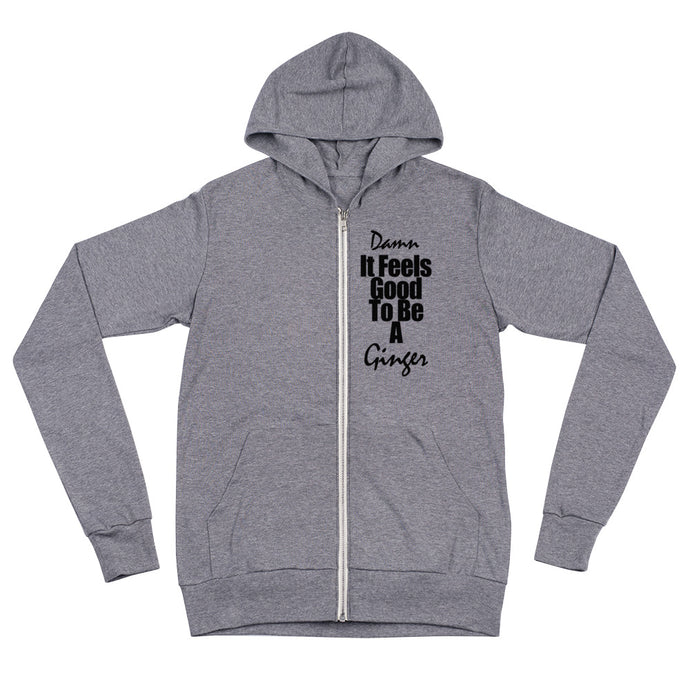 Feels Good - Women's tri-blend zip hoodie