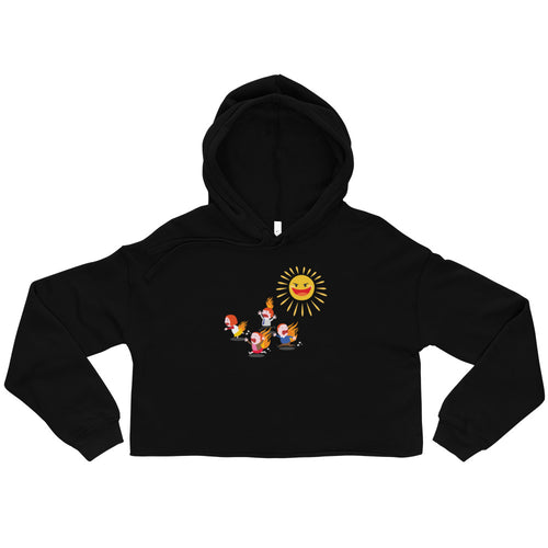 The Sun Hurts! - Ladies' Crop Hoodie
