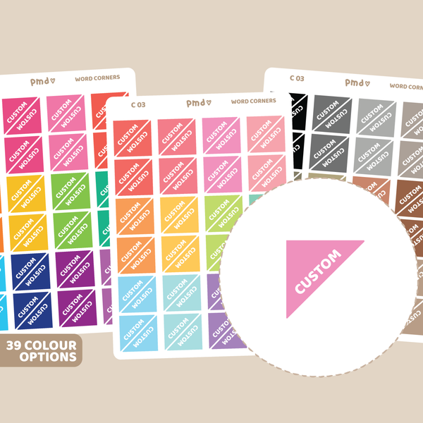 Custom Notepad #1 Box Stickers | C03