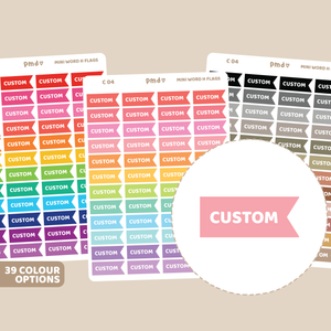 Custom Notepad #2 Box Stickers | C04