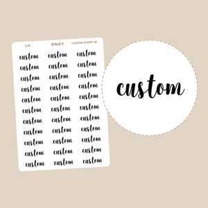 Custom Carer Tiny Icon Stickers | C11