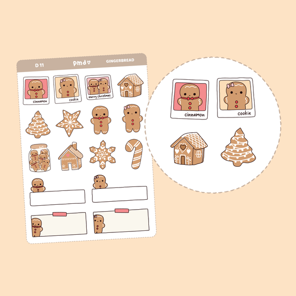 Winter Christmas Stickers | D11