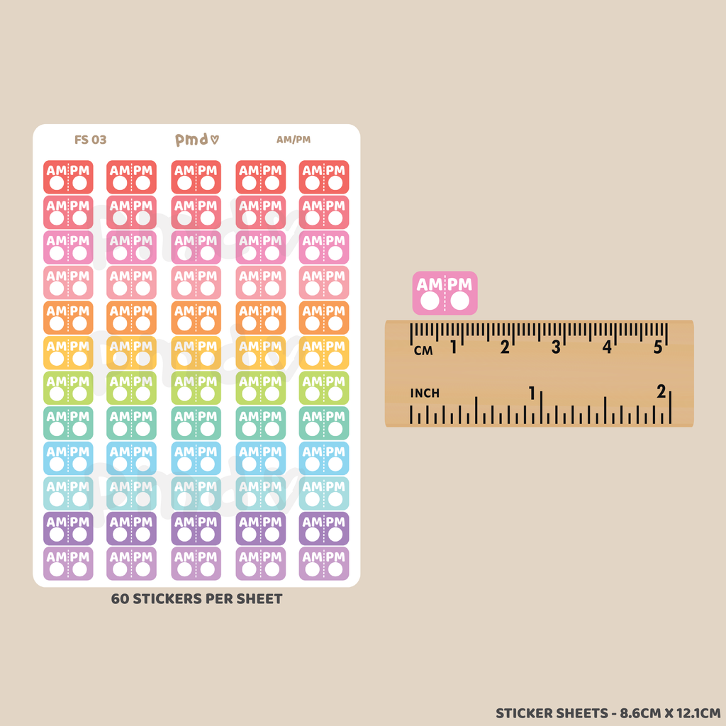 Weekly Workout Stickers | FS03