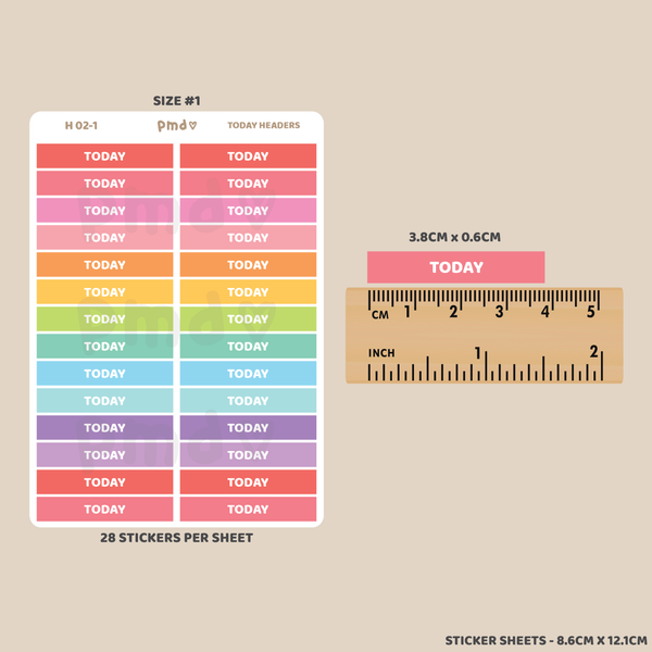 School Term Header Stickers | H02