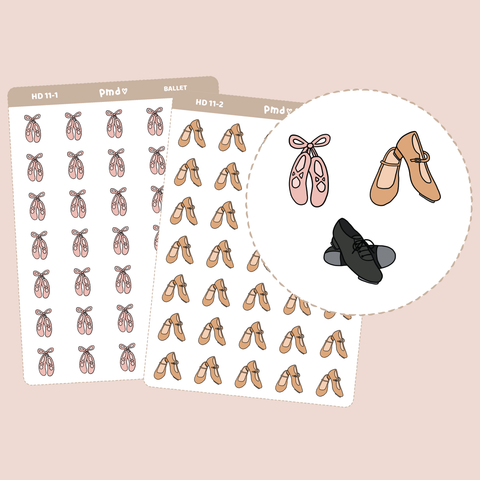 Dance Shoe Stickers | Hand Drawn Icons | HD11