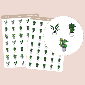House Plant Stickers | Hand Drawn Icons | HD21