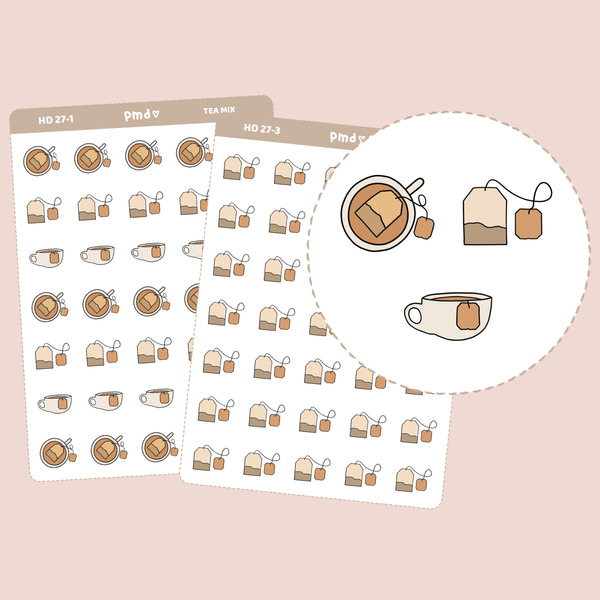Tea Stickers | Hand Drawn Icons | HD27