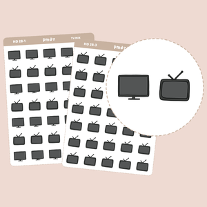 Tv Stickers | Hand Drawn Icons | HD28