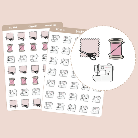 Sewing Stickers | Hand Drawn Icons | HD31