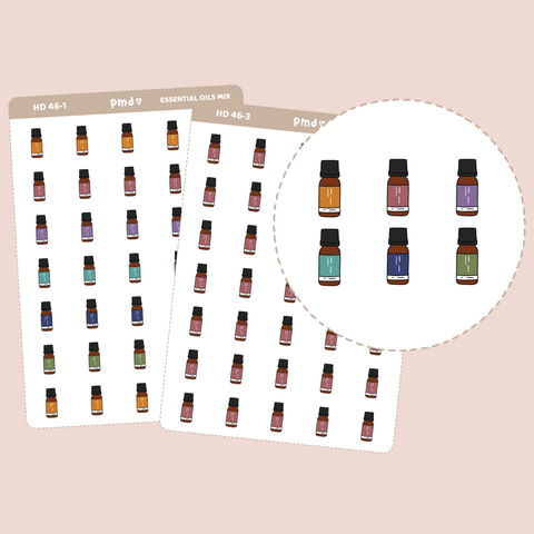 Essential Oil Stickers | Hand Drawn Icons | HD46