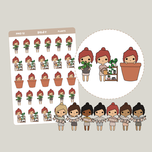 Plants | PMD People Stickers | PMD12
