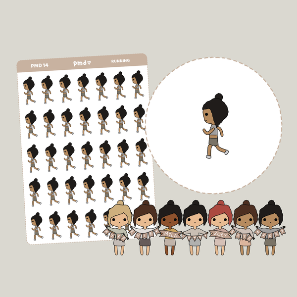 Running | PMD People Stickers | PMD14