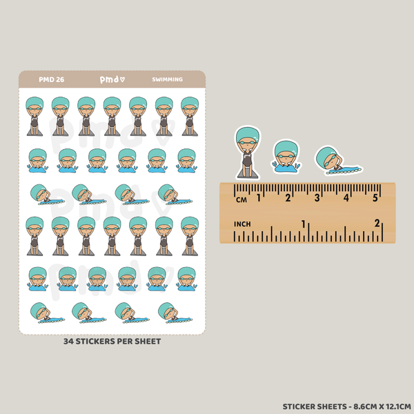 Swimming | PMD People Stickers | PMD26