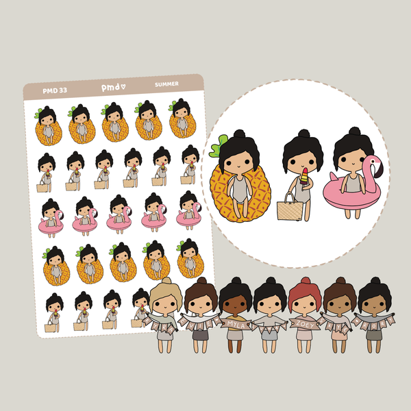 Summer | PMD People Stickers | PMD33