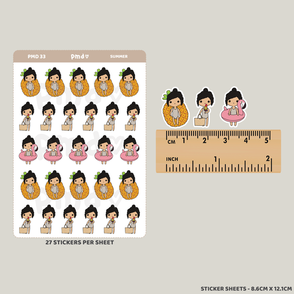 Pilates | PMD Girl Stickers | PMD33