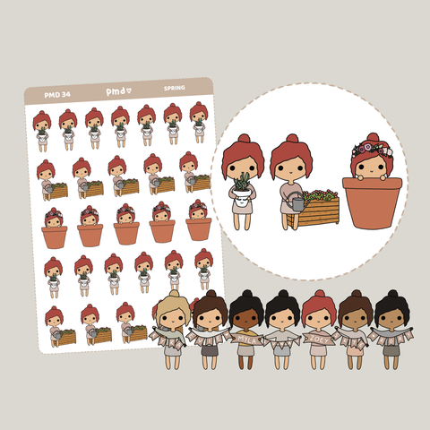 Spring | PMD People Stickers | PMD34