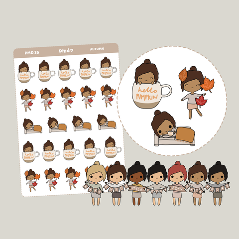 Autumn/Fall | PMD People Stickers | PMD35