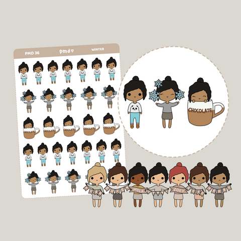 Winter | PMD People Stickers | PMD36