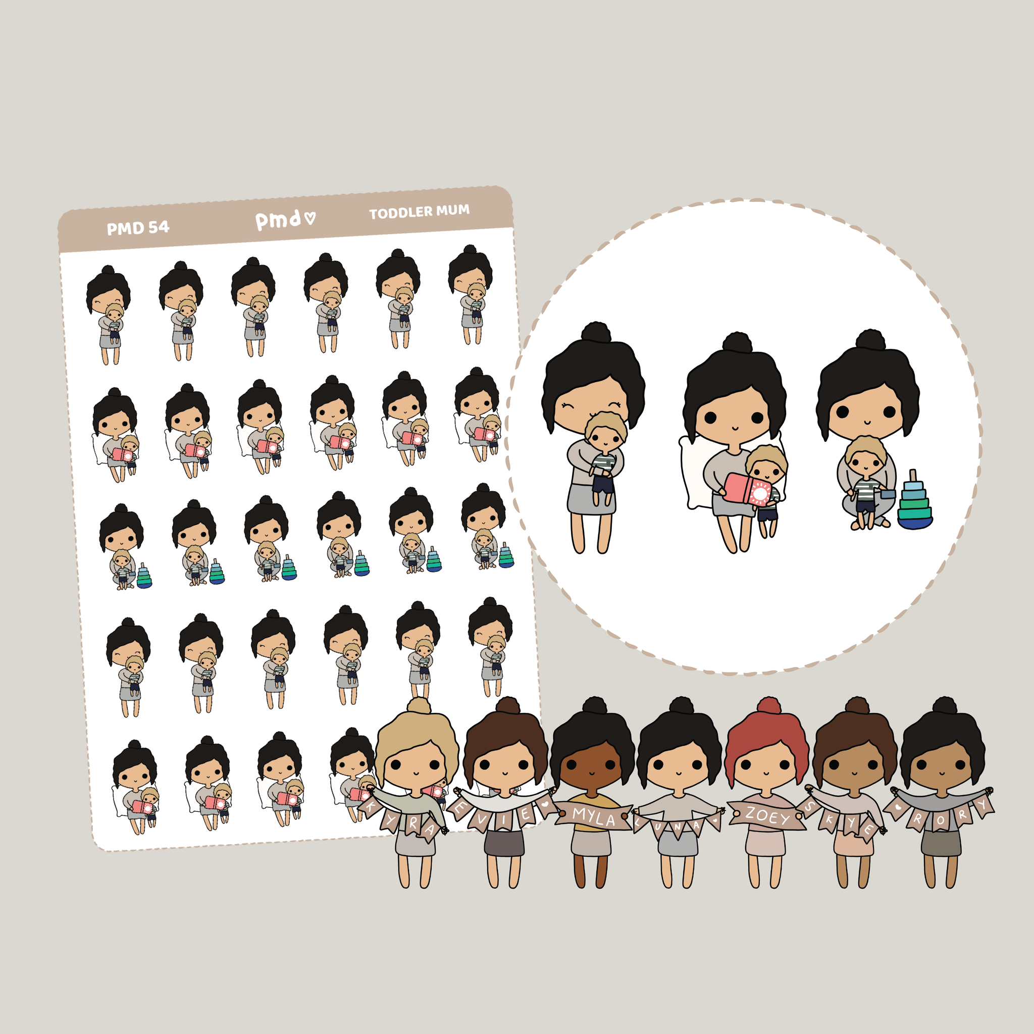 Scrubs | Work PMD Girl Stickers | PMD54