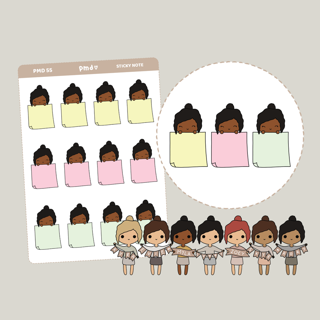 Teacher | Work PMD Girl Stickers | PMD55