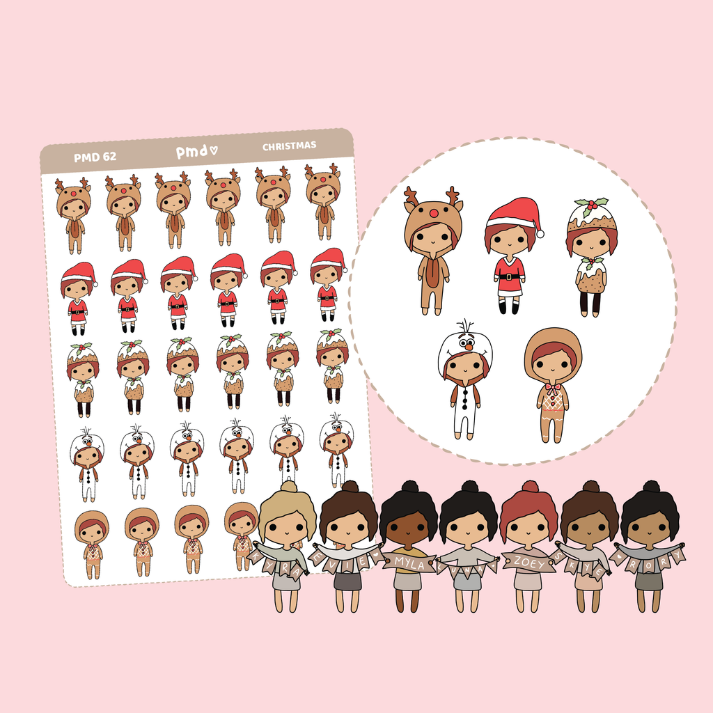 2020 AUS Holidays | PMD Girl Stickers | PMD62