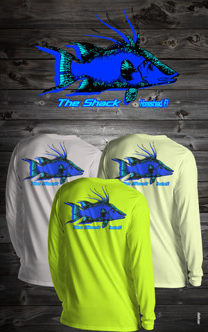 3D Hog Snapper Long Sleeve Shirt