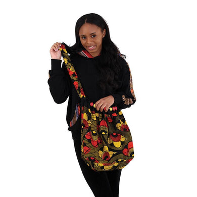 African Print Cross-Body Bag