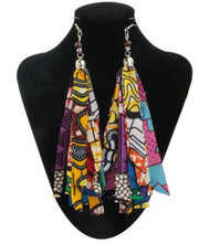 Ankara Print Tassel Earrings