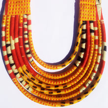 Multi-Rope Ankara Necklace