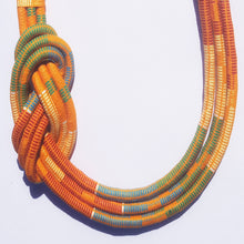 MultiRope Side Knot Necklace Orange