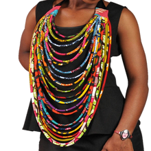 Multi-Layer Ankara Necklace