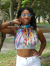 Ankara Inspired Choker Necklace with Tassels