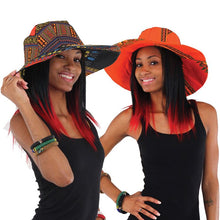 Traditional Sun Hat Black and Orange