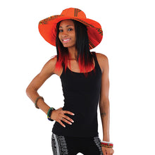 Traditional Sun Hat Orange Model