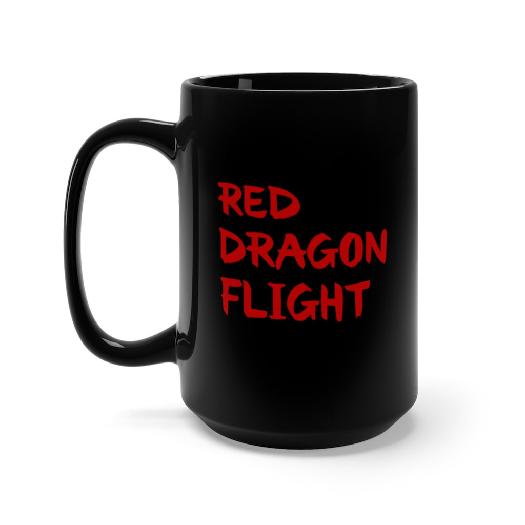 Alliestrasza Red Dragon Flight Collection 15 oz. Black Mug