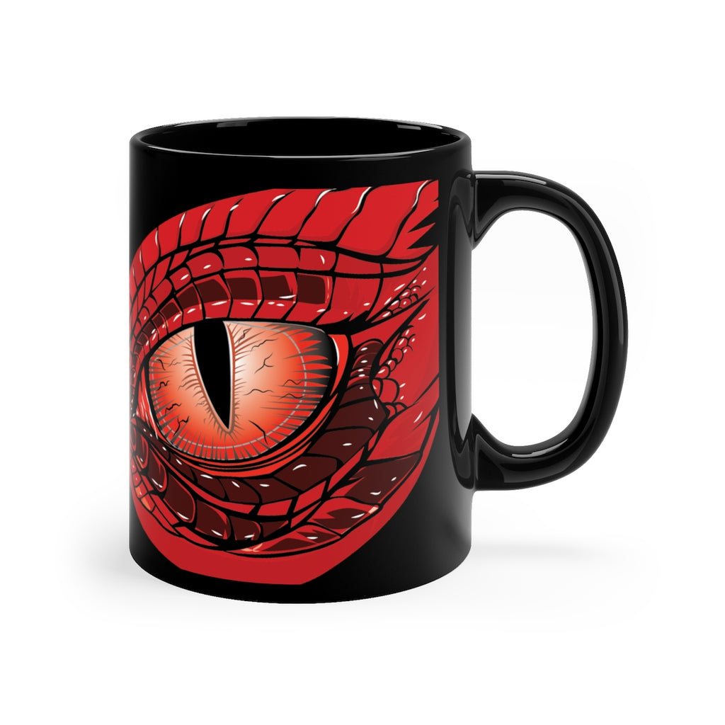Dragon Eye Black Coffee Mug 11oz - by Alliestrasza