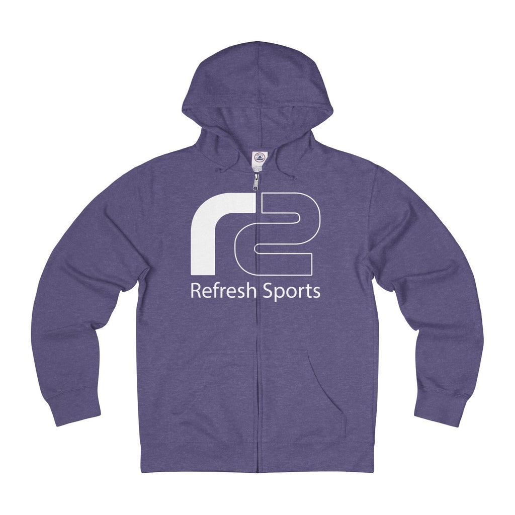 Unisex French Terry Zip Hoodie by Refresh Sports
