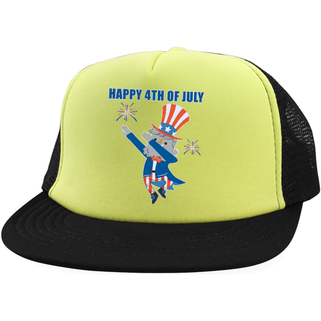 Happy 4th of July Trucker Hat with Snapback