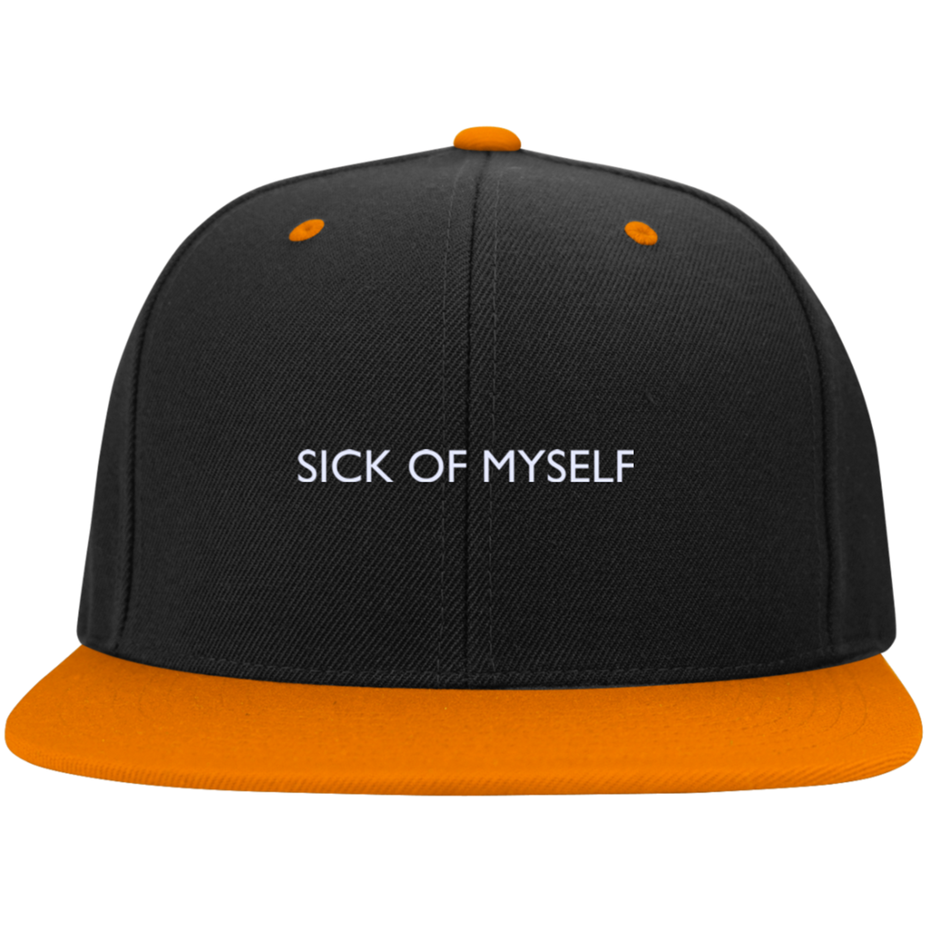 Sport-Tek Flat Bill High-Profile Snapback Hat