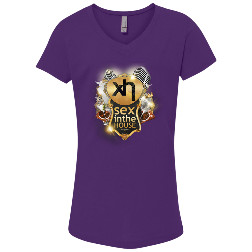 NL3740 Next Level Girls' Princess V-Neck T-Shirt