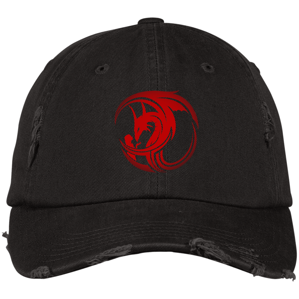 Red Distressed Dad Cap by Alliestrasza