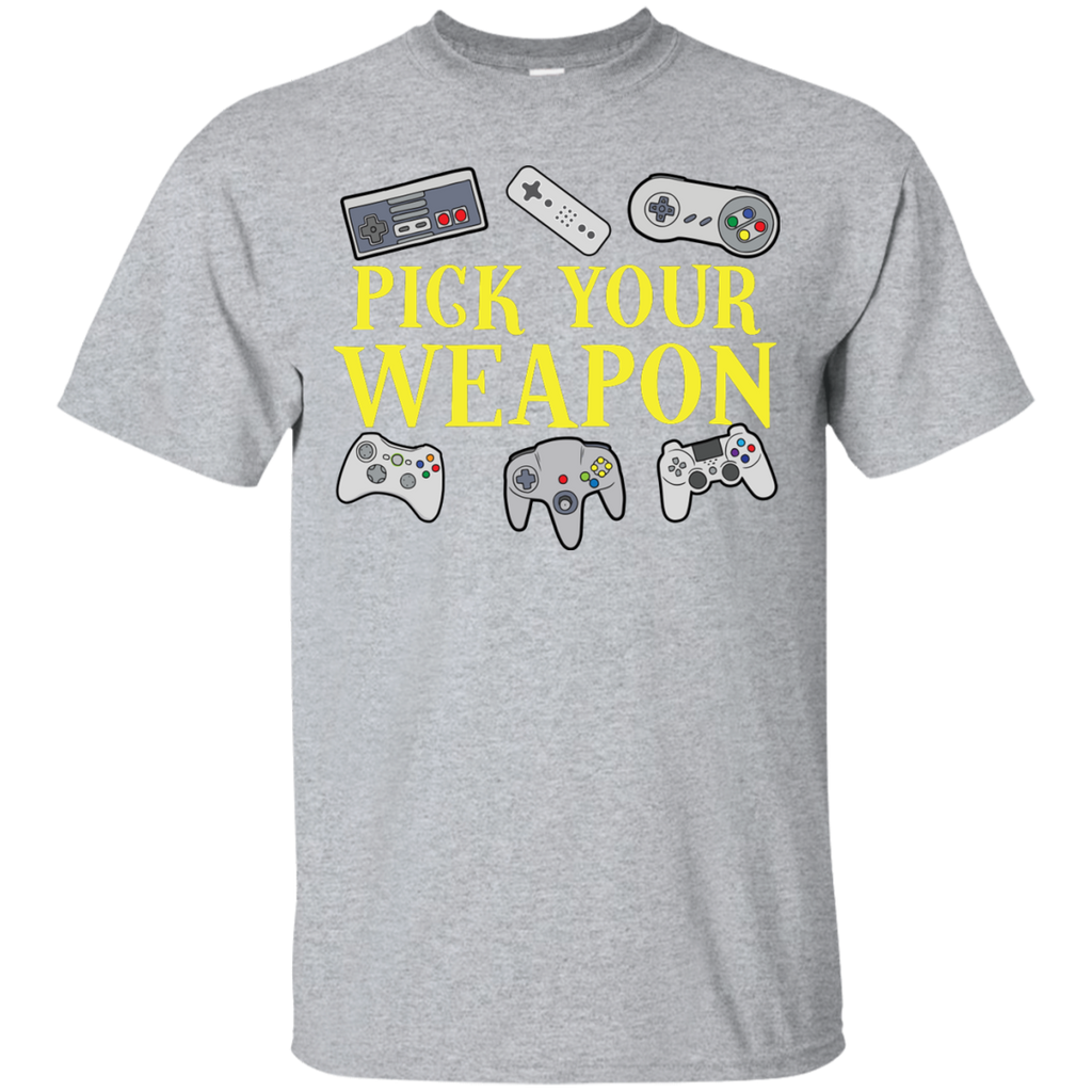 Dan's Pick your Weapon T-Shirt
